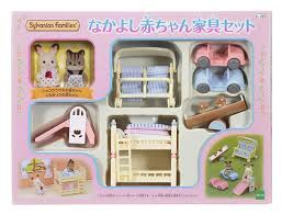 Baby Furniture Sets 3 Calico Critters Sylvanian Families Close Babies And Baby