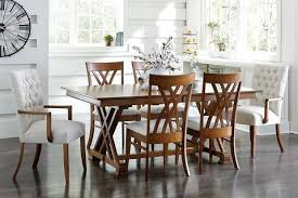 Dining Room Furniture Indianapolis Solid Hardwood Heyerly Trestle Dining Room Table Homeplex Furniture