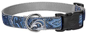 paisley ribbon buy deluxe blue paisley ribbon dog collar online