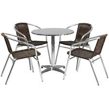 stainless steel table and chairs stainless outdoor table set 27 5 round restaurant table sets