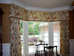 Bow Window Shades Window Treatment Ideas Great Kitchen Valances For Your Kitchen