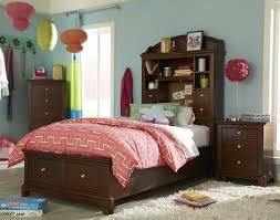 twin size bookcase bed with cork message board built in touch