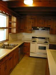 Knotty Pine Cabinets Kitchen A Knotty Pine Kitchen Respectfully Retained And Revived Retro