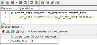 notes on extracting the day of the week oracle apps notes