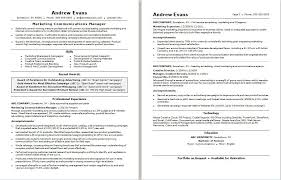 marketing manager resume marketing communications manager resume sle