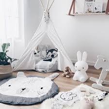 tapis ourson chambre b puseky bande dessinée animaux ours lapin visage bébé coton jouer
