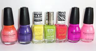 sophie jenner nail polish haul barry m sinful colours