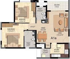 1166 sq ft 2 bhk floor plan image prestige group bella vista
