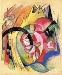 cubism flower painting coloful flowers abstract forms c 1914 franz marc wikiart org