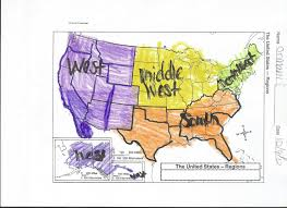 Map Of United States Regions by The Amazing Kids Of Room 200 The Regions Of The United States
