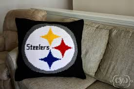 Steelers Bedding Pittsburgh Steelers Logo Pillow Colorful Christine
