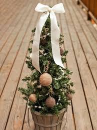 Outdoor Holiday Decorations Ideas Outdoor Holiday Decorating Idea Mini Christmas Tree Hgtv