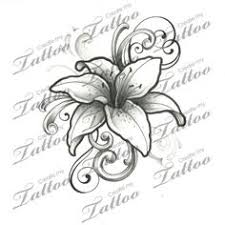 lily tattoos with vines tiger lily tattoo vines tatoos