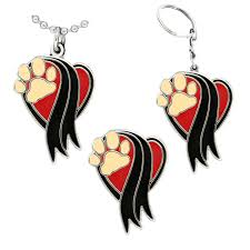In Memory Of Keychains Pet Sympathy Memorial Paw Pin Pendant Or Keychain