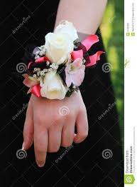 black and white corsage pink black and white prom corsage stock image image of