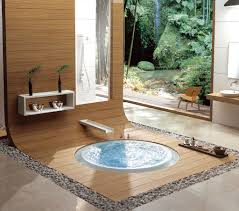 contemporary bathroom decorating ideas with awesome circular