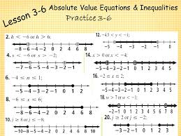 solving absolute value equations and inequalities worksheet