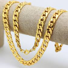 curb chain necklace fashion images 10mm 30 quot inch gold color solid cuban curb chain mens necklace hip jpg