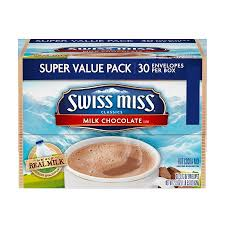 swiss miss light cocoa k cups swiss miss milk chocolate cocoa mix envelopes 30 count
