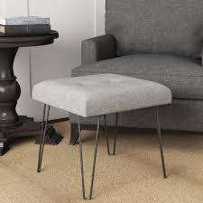 homepop mid mod square stool metal hairpin leg homepop