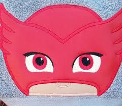 pj masks masks hooded towel gekko catboy luna romeo