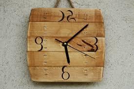 handmade wood clock handmade wooden wall hanging recycled wood dma homes