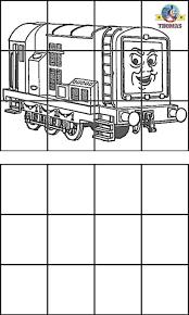 thomas diesel train coloring kids education drawing