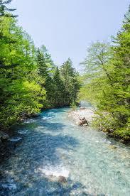 azusa light and water azusa river in kamikochi national park nagano japan stock photo