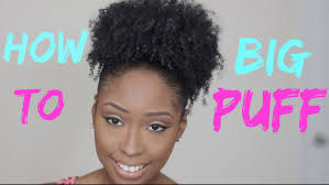 how to big sleek puff for short medium hair natural hairstyles