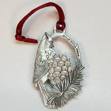 Canada Christmas Ornaments Seagull Pewter Cardinal Christmas Ornament Canada 1997 Pewter