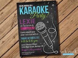 karaoke chalkboard invitation karaoke birthday party karaoke