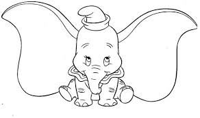 picture dumbo elephant coloring pages bulk color