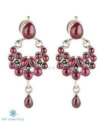 kempu earrings the pradyumna silver kempu earrings oxidised silver jewellery