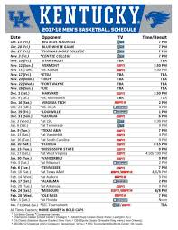 Uk Basketball Schedule Broadcast | kentucky basketball schedule 2017 18 tv times and locations for