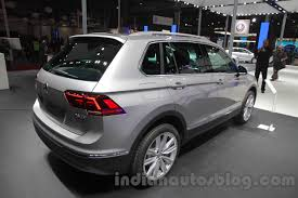 volkswagen tiguan 2016 interior 2016 vw tiguan rear three quarter at the auto expo 2016 indian