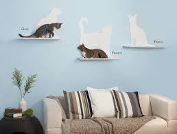 cat wall furniture cat silhouette cat wall shelves from the refined feline