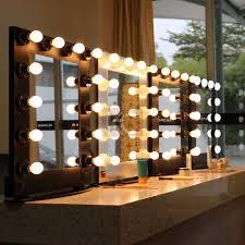 makeup artist light simple and decent profession aluminum framed makeup artist mirror