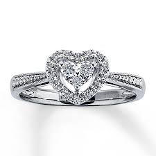 diamond heart ring jared diamond heart ring 1 5 ct tw cut 14k white gold