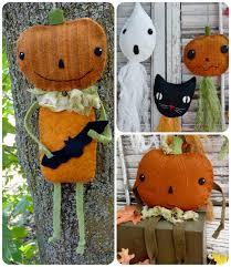 vintage halloween party prim wool goodies pattern 374 shirley