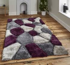 Modern Purple Rugs Noble House Nh 5858 Grey Purple Rugs 120 X 170cm Modern Rugs