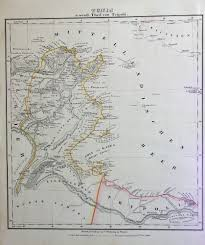 Map Of North Africa by 1850 Two Maps Of North African Countries Morocco U0026 Tunis