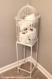 birdcage in your bathroom a unique storage solution