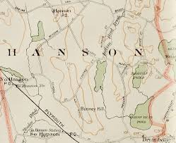 Massachusetts Town Map by Maps Hanson Ma Usgenweb Project