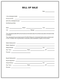 used car bill of sale template travel trailer bill of sale form