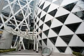 modern architecture tokyo japan right triangle and rhombus