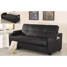 Futon Sofa Bed Queen by American Eagle Sofa W Cup Holder Ae002 Black Convertible Futon
