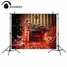online shop allenjoy photography backdrop fireplace christmas tree