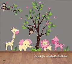 Monkey Nursery Wall Decals Kinderzimmer Wandtattoo Zoo Kinderzimmer Luxury Baby Wall Decals