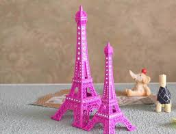 Paris Centerpieces 2017 18cm Crystal Rhinestone Paris Eiffel Tower Model Alloy Eiffel