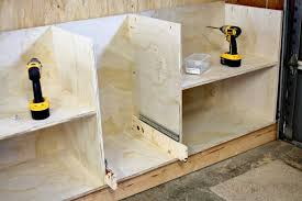 how to build bottom cabinets how to build diy garage cabinets and drawers thediyplan